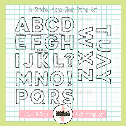 In Stitches Alpha Clear Stamp Set