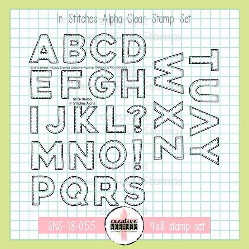 Creative Worship: In Stitches Alpha Clear Stamp Set
