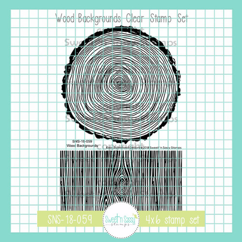 Wood Backgrounds Clear Stamp Set