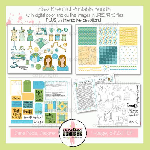 Creative Worship: Sew Beautiful Printable Bundle with Devotional