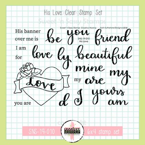 Creative Worship: His Love Clear Stamp Set