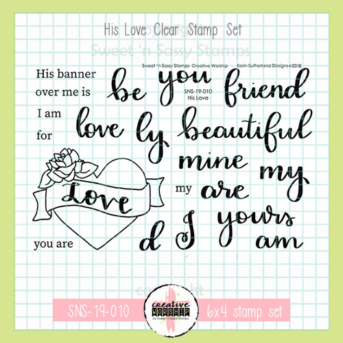 Creative Worship: His Love Clear Stamp Set