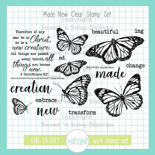 February Stamp of the Month: Made New Clear Stamp Set