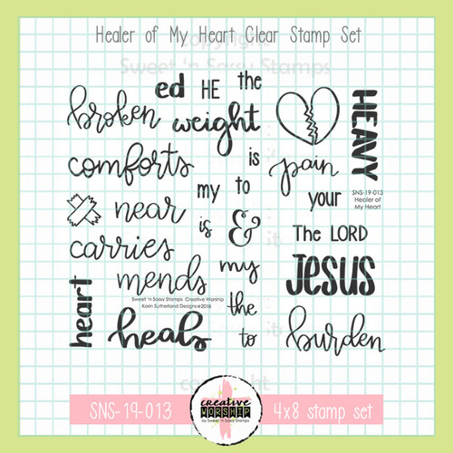 Creative Worship: Healer of My Heart Clear Stamp Set