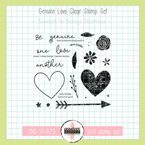 Creative Worship: Genuine Love Clear Stamp Set