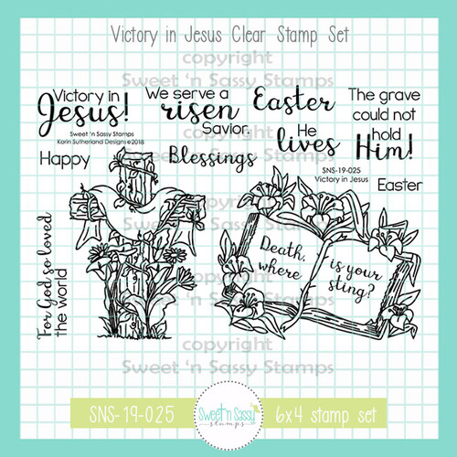 Victory in Jesus Clear Stamp Set