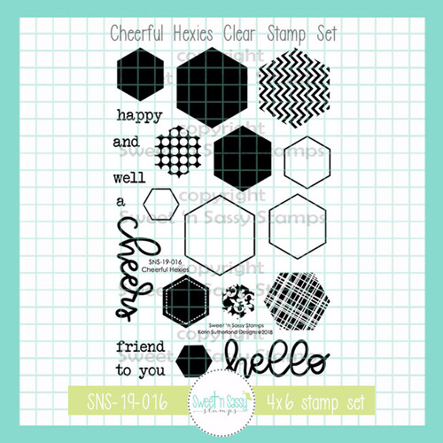 Cheerful Hexies Clear Stamp Set