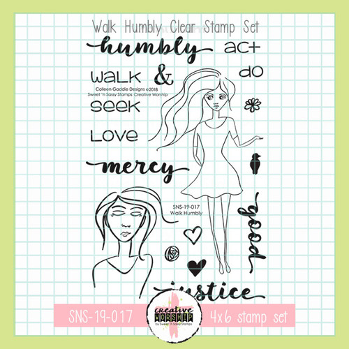 Creative Worship: Walk Humbly Clear Stamp Set