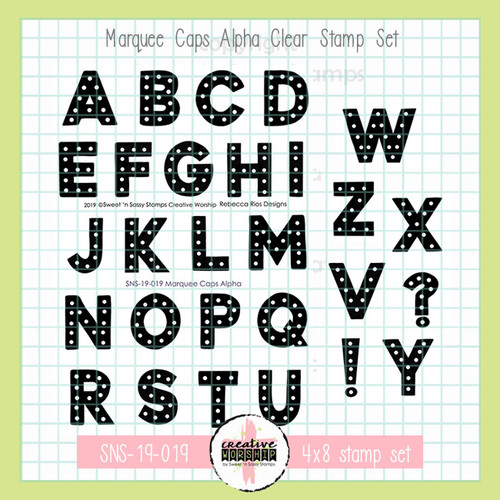Creative Worship: Marquee Caps Alpha Clear Stamp Set