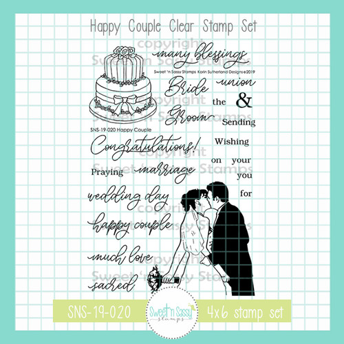 Happy Couple Clear Stamp Set
