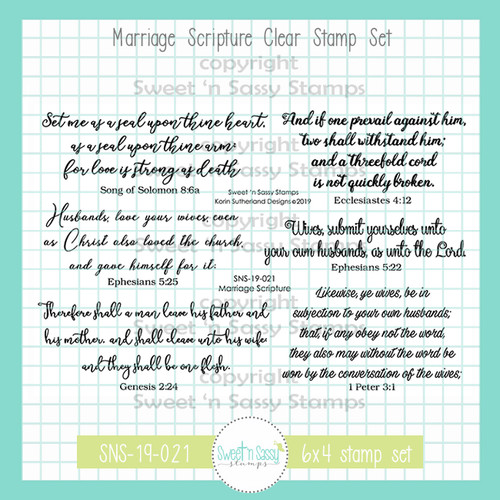 Marriage Scripture Clear Stamp Set