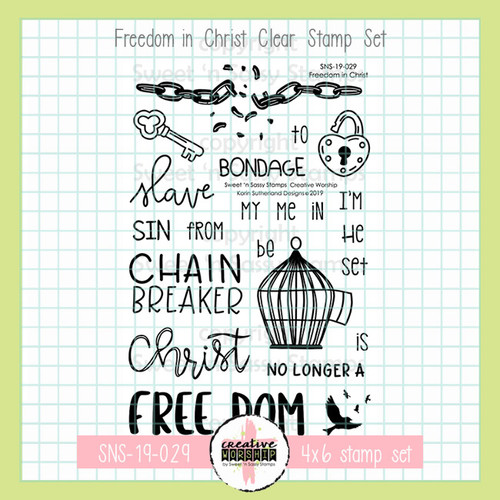Creative Worship: Freedom in Christ Clear Stamp Set