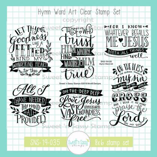 Hymn Word Art Clear Stamp Set