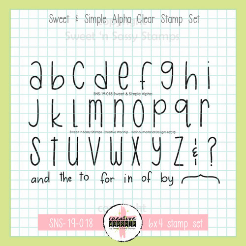 Creative Worship: Sweet & Simple Alpha Clear Stamp Set