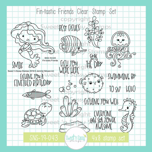 Fin-tastic Friends Clear Stamp Set
