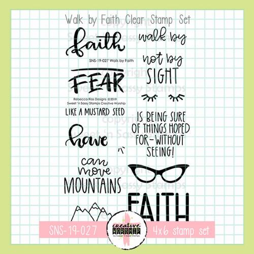Creative Worship: Walk by Faith Clear Stamp Set