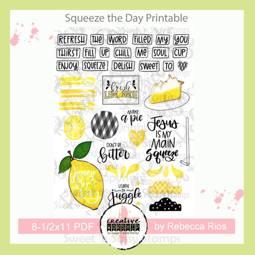 Creative Worship: Squeeze the Day Printable
