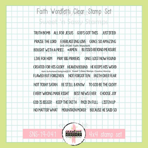 Creative Worship: Faith Wordfetti Clear Stamp Set