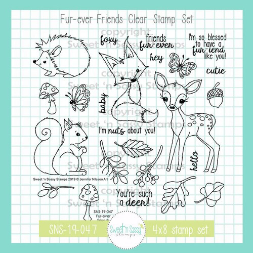 Fur-ever Friends Clear Stamp Set
