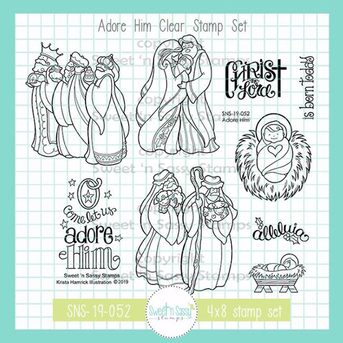 Adore Him Clear Stamp Set