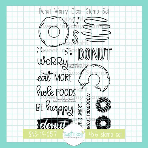 Donut Worry Clear Stamp Set