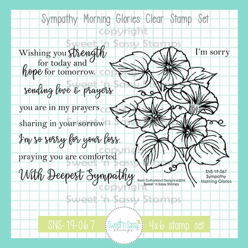 Sympathy Morning Glories Clear Stamp Set