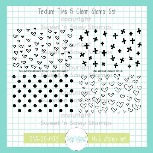 Texture Tiles 5 Clear Stamp Set