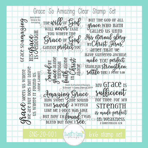 Grace So Amazing Clear Stamp Set