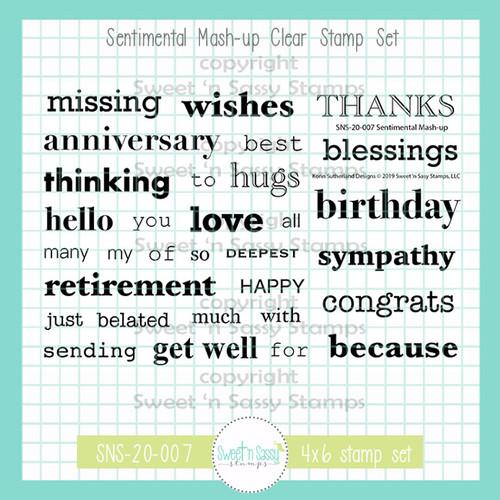 Sentimental Mash-up Clear Stamp Set