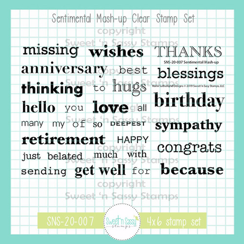 Sentimental Mash-up Clear Stamp Set