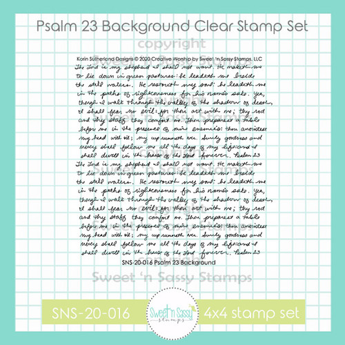 Psalm 23 Background Clear Stamp