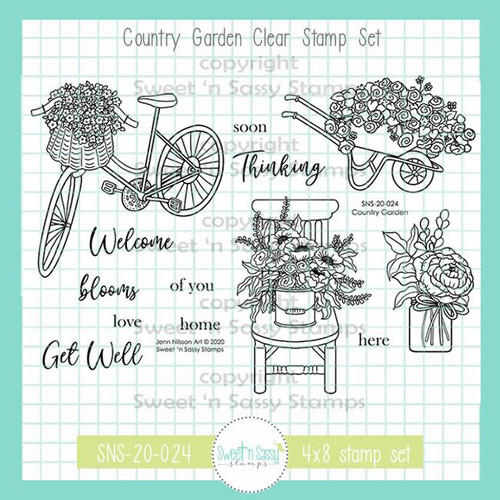 Country Garden Clear Stamp Set