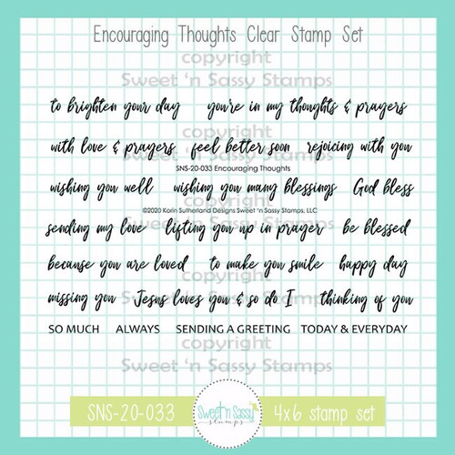 PREORDER Encouraging Thoughts Clear Stamp Set