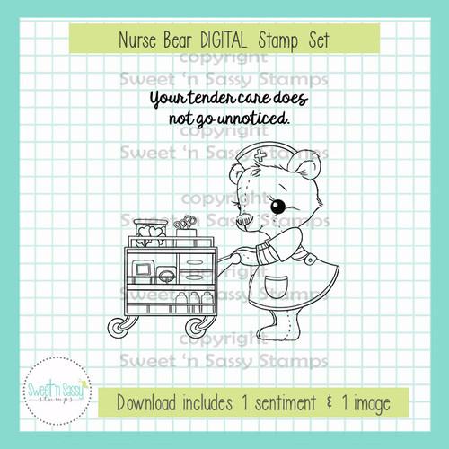 Nurse Bear DIGITAL Stamp Set