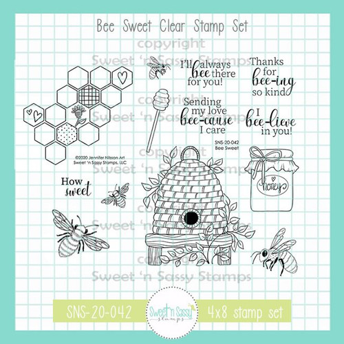 Bee Sweet Clear Stamp Set