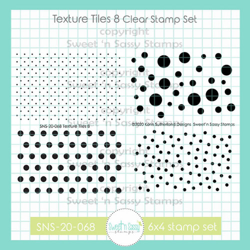 Texture Tiles 8 Clear Stamp Set