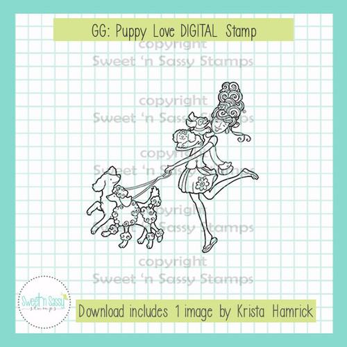 GG: Puppy Love DIGITAL Stamp
