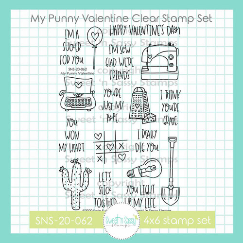 My Punny Valentine Clear Stamp Set