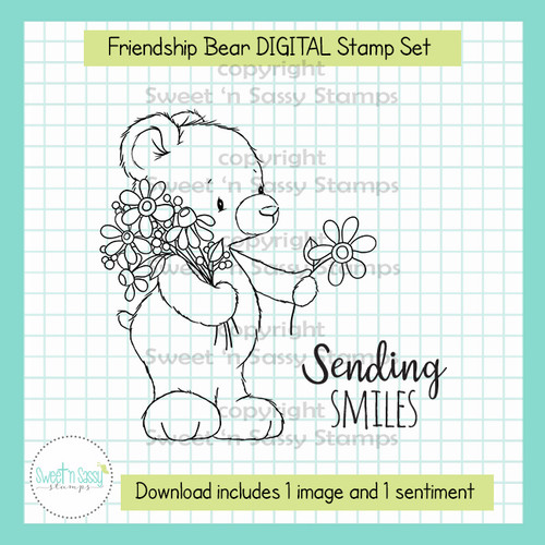 Friendship Bear DIGITAL Stamp Set