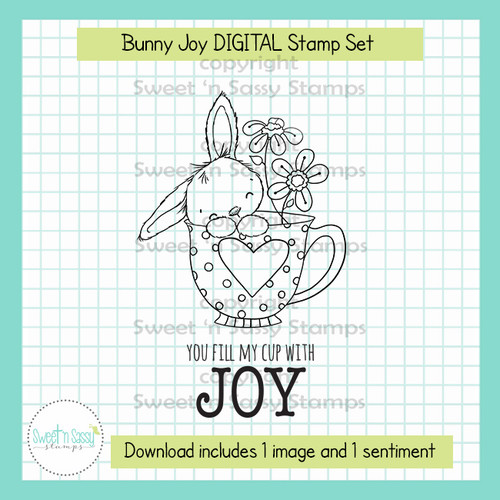 Bunny Joy DIGITAL Stamp Set