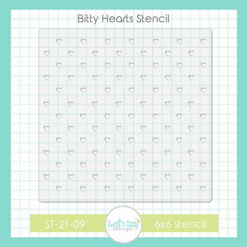 Bitty Hearts Stencil