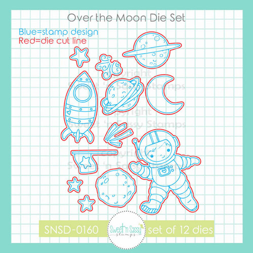 Over the Moon Die Set