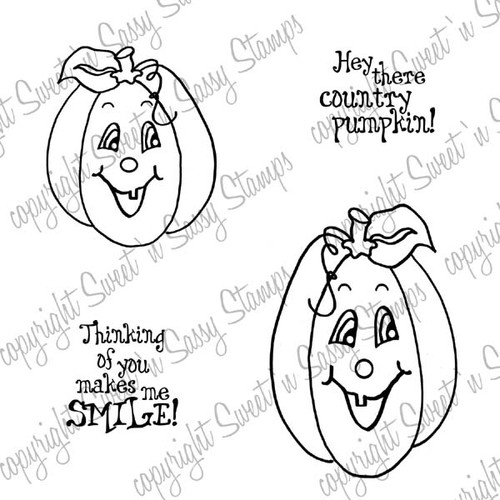 Country Pumpkins Digi Stamp