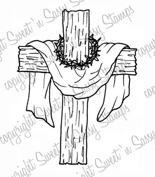 Old Rugged Cross Digital Stamp