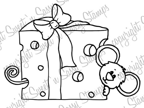 Cheese for Cocoa Digital Stamp