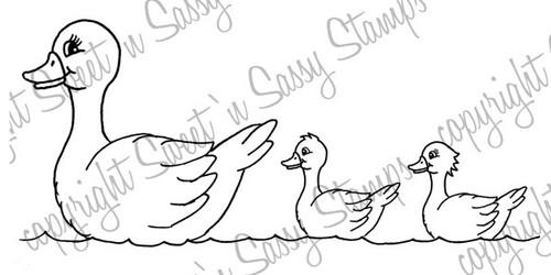 Mama Duck Digital Stamp