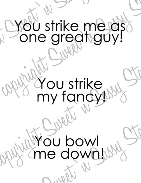 Bowling Sentiments Digital Stamp