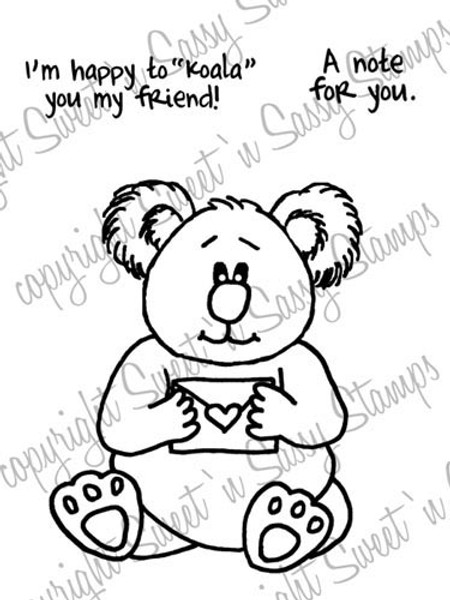 Koala's Note Digital Stamp