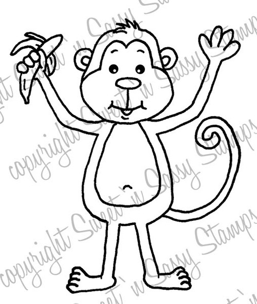 Monty Monkey Digital Stamp