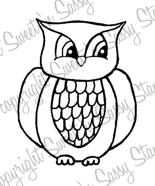 Ollie Owl Digital Stamp